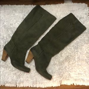 Green suede sixtyseven tall boots size 37